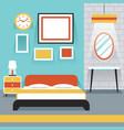 Furniture Display in Room Bedroom vector image