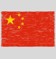 hand drawn chinese flag vector image