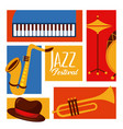 jazz festival poster music event invitation vector image