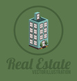 Real estate design over green background vector image