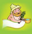 sauna man vector image