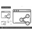 Share webpage line icon vector image