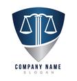 Lawyer shield logo vector image