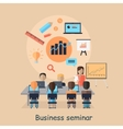 Business Seminar Succefull Motivational Managment vector image