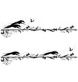 set of dividers with dogs vector image vector image