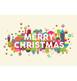 Merry christmas colorful abstract greeting card vector image