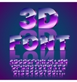 3d violet font vector image
