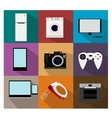 Flat modern kitchen appliances icons vector image