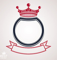 circle with 3d decorative royal crown and festive vector image