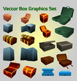 Box graphics collection vector image