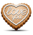 Cookie for Valentines Day vector image