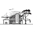 House or cottage graphics vector image