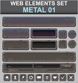 Metal web elements set vector image