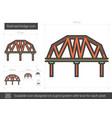railroad bridge line icon vector image