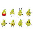 happy pear cartoon character vector image