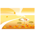 table autumn leaves vector image vector image