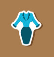 paper sticker fashion clothes office dress vector image