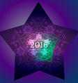 2016 greeting design in star vector image