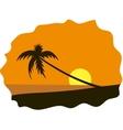 Palm tree on seaside vector image