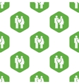 Couple in love pattern vector image