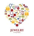 Jewelry heart shape vector image