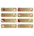 set of different christmas banners vector image vector image
