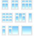 plastic windows in color vector image vector image
