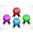 set color badges vector image vector image