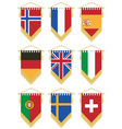 flag pennants vector image vector image