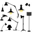 Lamp set vector image