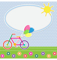 Colorful bike vector image vector image
