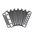 accordion musical instrument for kid baby toy vector image