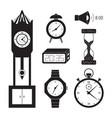 clocks icon set vector image