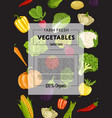 Farm fresh vegetable banner with natural product vector image