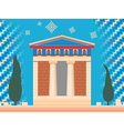 greek ancient treasury vector image