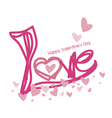Love design for valentines day vector image