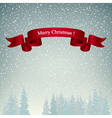 Merry Christmas Landscape in Gray Shades vector image