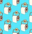 Sketch toilet paper in vintage style vector image