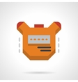 Stopwatch flat color design icon vector image