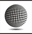 set abstract halftone 3d spheres 16 vector image