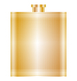 gold flask vector image