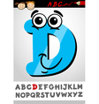 funny letter d cartoon vector image vector image