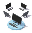 isometric lowpoly computer vector image vector image