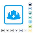 electrician helmet framed icon vector image