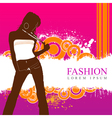 fashion women model vector image vector image