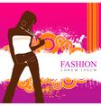 fashion women model vector image