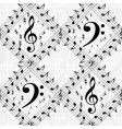 vector musical pattern vector image vector image