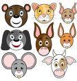 Animals baby set vector image