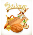 Bakery Bread 3d logo vector image