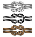 black rope knot symbols vector image